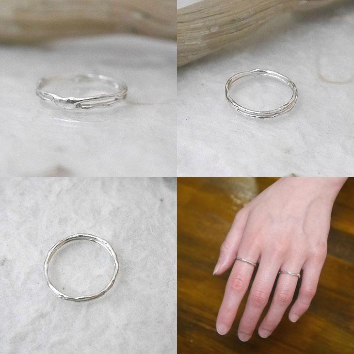 細身 シルバー 指輪